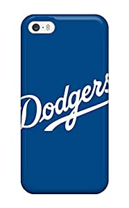 Iphone 5/5s Hard Back With Bumper Silicone Gel Tpu Case Cover Los Angeles Dodgers