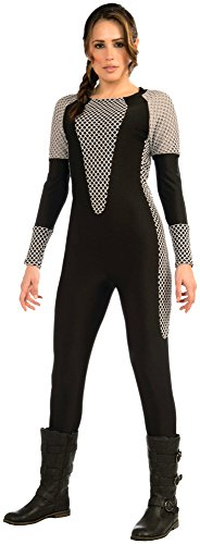 Girls Katniss Costumes (Forum Novelties Women's Bad Girl Costume Jumpsuit, Black/Gray, X-Small/Small)