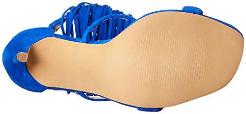 Steve Madden Fringly Donna US 7.5 Blu Sandalo
