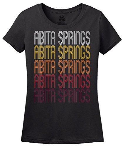 Abita Springs, LA   Retro, Vintage Style Louisiana Pride T-shirt-(Ladies,XL)