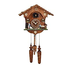 Quartz Cuckoo Clock Swiss house Heidi, incl. batteries