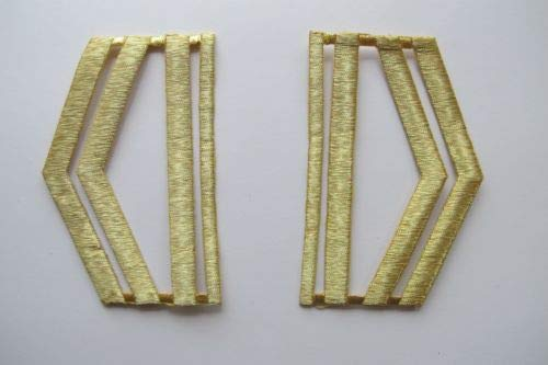 2X Piece of Gold Military,US Army,Shoulder Epaulet Embroidery Applique Patch (2669) ()