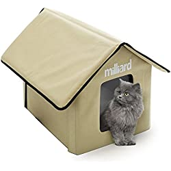 Milliard Portable Outdoor Pet House for Cat, Kitty or Puppy; Perfect Bed Cave or Shelter, 22 x 18 x 17 in