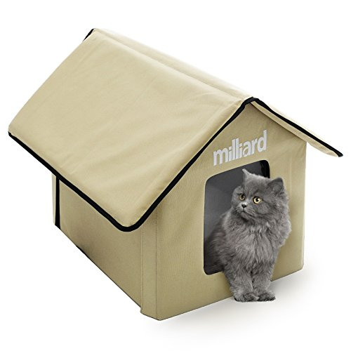 (Milliard Outdoor Cat House for Your Pet Kitty or Puppy; Perfect Portable Bed Cave or Shelter, 22 x 18 x 17 in)