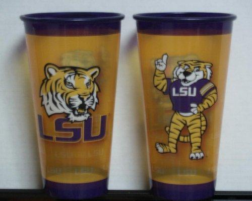 32 oz LSU Tigers Souvenir Plastic Cup Set (Set of 4)