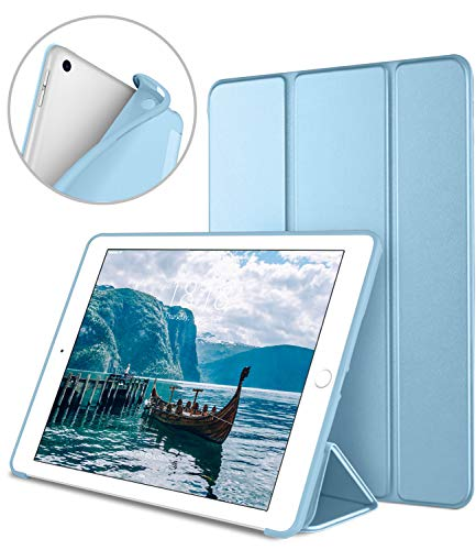 DTTO iPad 9.7 Case 2018 iPad 6th Generation Case / 2017 iPad 5th Generation Case, Slim Fit Lightweight Smart Cover with Soft TPU Back Case for iPad 9.7 2018/2017 [Auto Sleep/Wake] - Sky Blue (Kate Ipad Spade Cover)