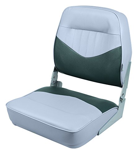 Wise 8WD418-911 Contoured Foam Standard Folding Boat Seat, Cuddy Marble/Cuddy Charcoal