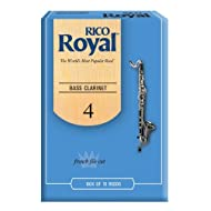 Royal by D'Addario Bass Clarinet Reeds, Strength 4.0, 10-pack
