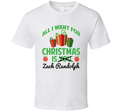 (yeoldeshirtshop All I Want for Christmas is Zach Randolph Sacramento Basketball Funny Fan T Shirt 2XL White)