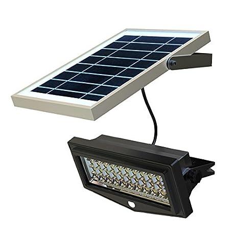 Lampade Solari Da Giardino Amazon.Faretto Ad Energia Solare Da Giardino A Led Con Sensore Di Movimento E Pannello Fotovolatico Separato 1000 Lumen