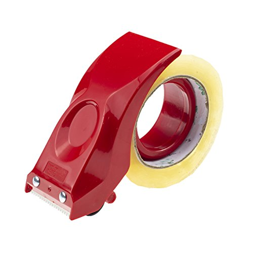 PROSUN Easy-Mount 2 Inch Tape Gun Dispenser Packing Packaging Sealing Cutter Red Handheld Warehouse ()