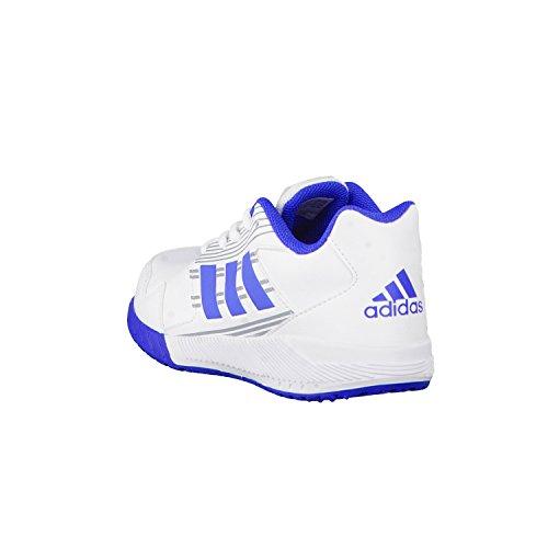 adidas Performance - Zapatillas para deportes de interior de mezcla de tejidos para niña blanc/bleu/gris