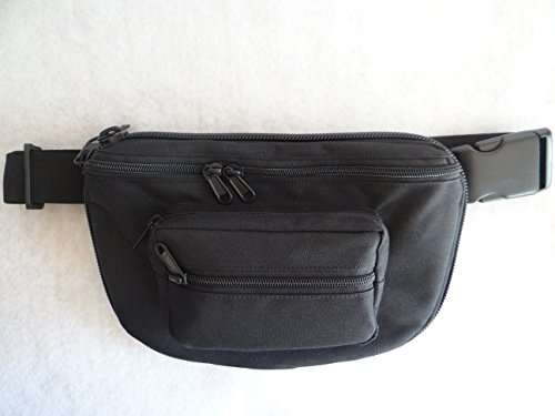 Small - DTOM Concealed Carry Fanny Pack Cordura Nylon -Black