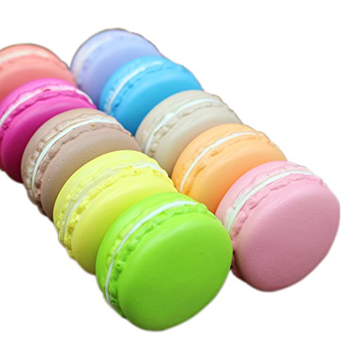 Eworld - Squishy Macarons Cake Toy - 2 Pcs Jumbo Slow Rising Kawaii Soft Cute Hand Pillow Cream Scented Squeeze Hand Wrist Gift Stress Toy (Giant Squishy Pillow)