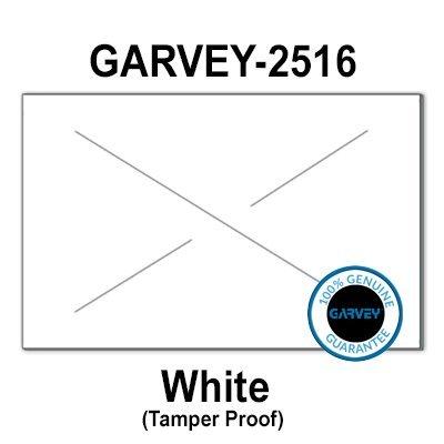 160,000 GENUINE GARVEY 2516 White General Purpose Labels: full case - 20 ink rollers - tamper proof security -