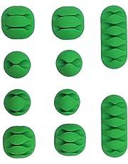 10 قطع مشابك عالية الجودة متعددة الاغراض لتنظيم اسلاك شحن الهواتف الخلوية وكابلات اجهزة USB لسطح المكتب