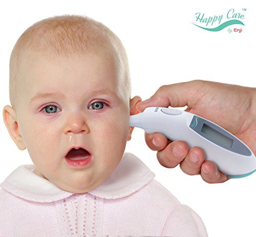 Enji Best Baby Clinical Digital Ear Infrared Thermometer FDA approved Accurately Reads Internal Temperature in 1 Second Design Requires No Probe Covers Reads F or C Great for Kids and Adult Best Gift