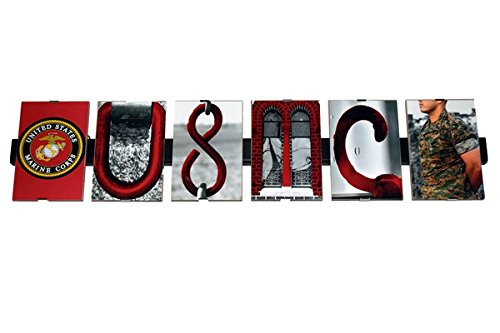 USMC United States Marine Corps Photograph Letter Art Alphabet Creative Home Decor Office Gift Present 4 X 6 Professional Pictures on 27.5inch Hanging Glass ...