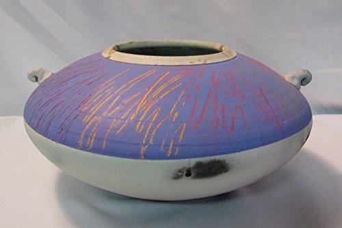 Michael Weinberg Ceramic Artist Raku Studio Art Terracotta Vase, Large, Purple