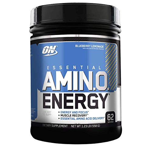 Optimum Nutrition Essential Amino Energy with Green Tea and Green Coffee Extract, Flavor Blueberry Lemonade, 62 Servings