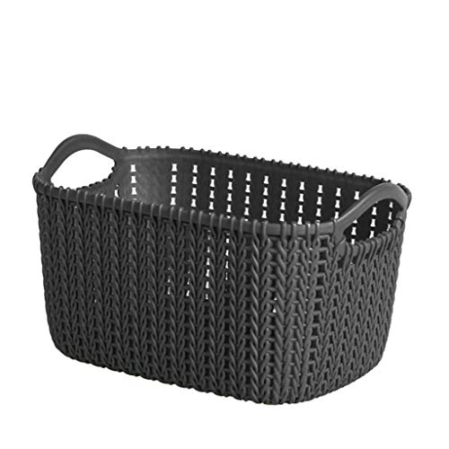 Hefu ☪ Rattan Storage Basket Household Sundries Storage Basket Storage Basket Toy Plastic Basket (Medium) ()