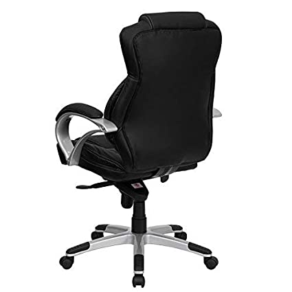 Flash Furniture High Back Black Leather Contemporary Executive Swivel Chair H-9626L-2-GG
