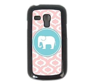 Love Elephants Baby Pink Ikat Cute Hipster Samsung S3 Mini i8190 Case Fits - Samsung Galaxy S3 Mini i8190