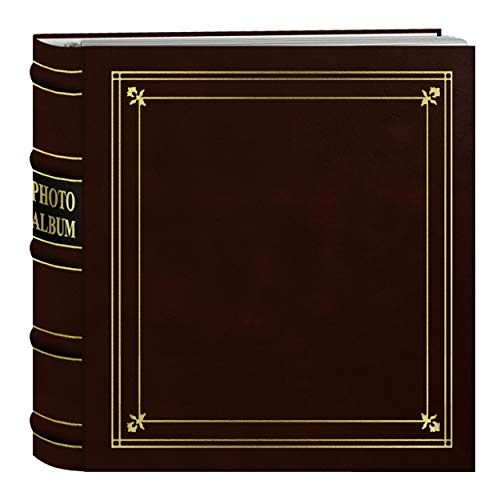 Pioneer Photo Albums 200-Pocket Ring Bound Burgundy Bonded Leather with Gold Accents Cover Photo Album for 4 x 6-Inch Prints ()