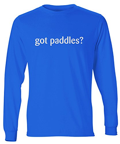 shirtloco Men's Got Paddles Long Sleeve T-Shirt, Deep Royal Extra Large