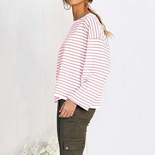 Grande Chemisiers Taille Blouses Shirt Blouse Casual Longues Weant Col Ray Blouse Femme Femme U Tops imprim Chemisier Blanc Manches Z6aOBqA