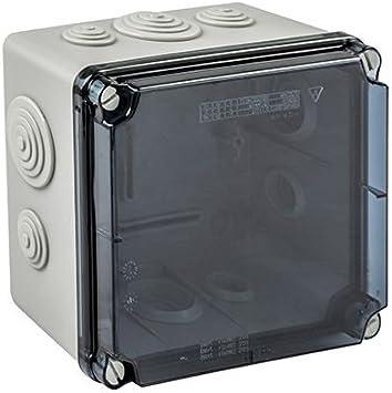 IDE EVT322 Cajas Estancas Derivación Con Conos, IP65, Tapa transparente: Amazon.es: Industria, empresas y ciencia
