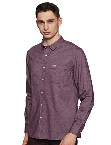 Flying Machine Men's Solid Full Sleeve Shirt