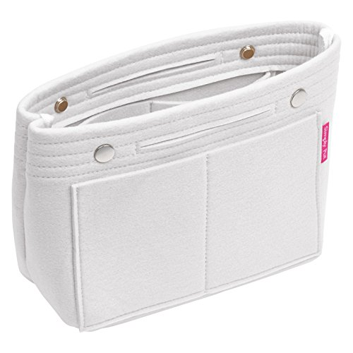 Best Handbag Organizer, Purse Organizer, Insert, Liner, Felt Structure Shaper, Medium Narrow, Light Grey
