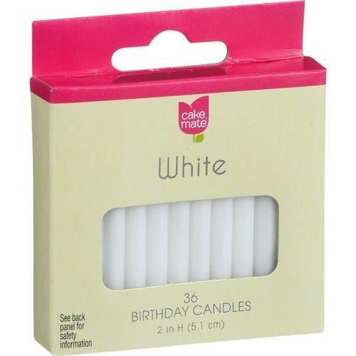 Cake Mate, White Birthday Candles - 36 ct
