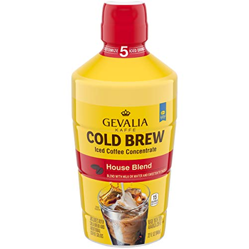 Gevalia Cold Brew House Blend Iced Coffee Concentrate (32 oz Bottle)