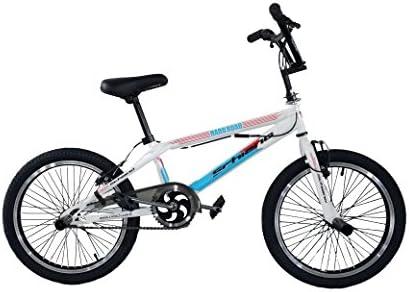 F.lli Schiano Hard Road BMX Bicicleta, Hombre, Blanco/Azul, 20 ...