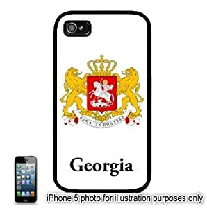 Georgia Republic Coat of Arms Flag Apple iPhone 5 Hard Back Case Cover Skin Black by runtopwell