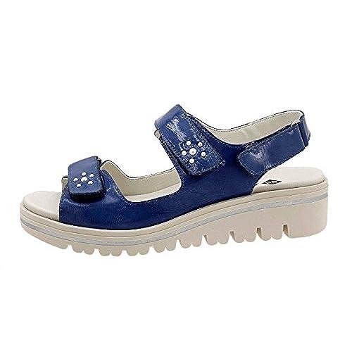 PieSanto Sandalia Plantilla Extraíble Ante Metal Marino 180781 Zapato  Confort Caliente de la venta 9d0308a973aa