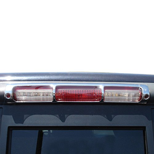 03 Cover 3rd Brake Billet (E-Autogrilles Third Brake Light Cover Triple Chrome Plated ABS for 97-03 Ford F-150 (68-0301))