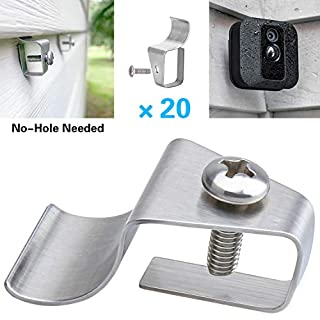 Blink XT2 Camera Vinyl Siding Clips Hooks, No-Hole Needed Outdoor Siding Cam Hanger for Mounting Blink Xt2/Xt Cameras Home Security System (20 Pack)