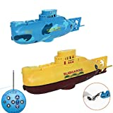 ElevenY RC Boat Mini Submarine 3CH Warship Remote Control High-Speed Ship Electronic Model for Christmas Kids Gift Hobby Toys - Rechargeable Electric Boat for Kids Adults Hobby Toys (Color : Yellow)