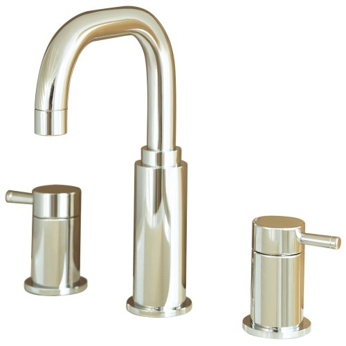- American Standard 2064.801.295 Serin Two-Handle Widespread Lavatory Faucet with Metal Speed Connect Pop Up Drain and Lever Handles, Satin Nickel
