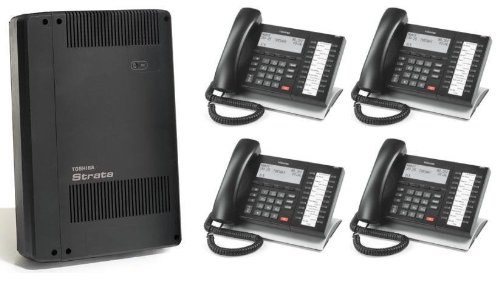 - Toshiba Strata CIX40 CIX phone system with 4 DP5032-SD phones, includes cabinet/controller with GCTU2A system processor with an AMDS3A Remote maintenance modem built/ready for 3 or 4 lines/trunks and 8 extensions/phones, includes CIX / CTX e-manager Admin software, Refurb with a ONE YEAR WARRANTY