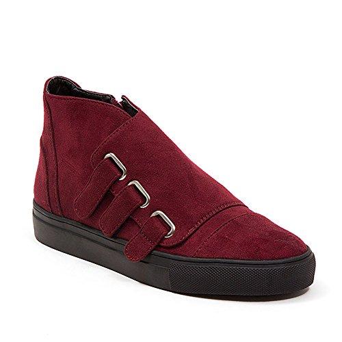 French Blu Dames Jezel Faux Suede Velcro Fashion Sneaker Bordeauxrood