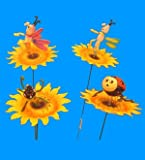 Pl. Insect Sunflower Garden Stick 6 In, Case of 36