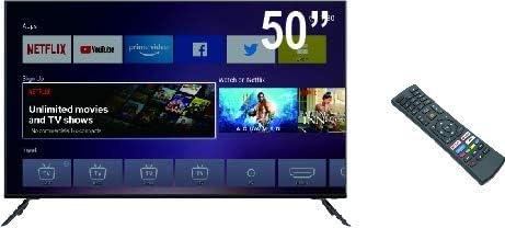 Televisor Smart Tech by BSL de 50 Pulgadas Smart TV Android TV DBVT2 | UHD LED de 3840x2160pp | Conexión, HDMI ARC, HDMI, COAXIAL, AV IN.: Amazon.es: Electrónica