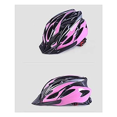 Cycling Helmet, one-Piece Helmet, Bicycle Helmet, Helmet Color for Men and Women, Helmet Summer, Electric car, Motorcycle, Motorcycle Helmet, Bicycle Helmet, -Pink : Sports & Outdoors