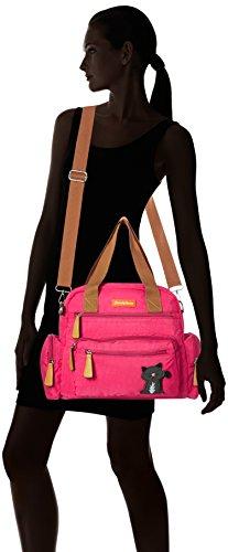 Day Multi Kempton L Pink Bag Fuschia Zip Womens Shoulder Ladies SWANKYSWANS tq6wO7q