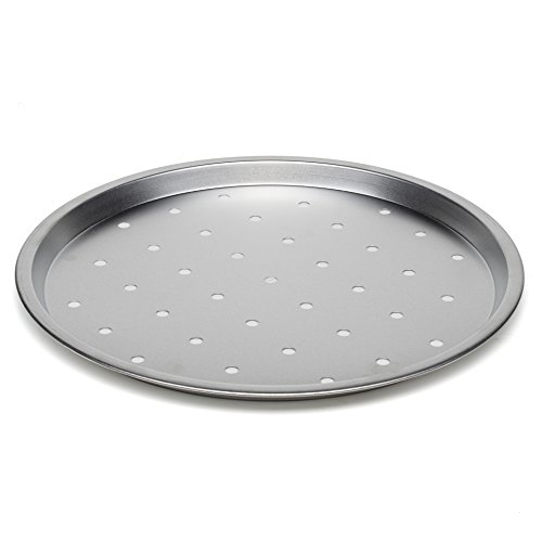 bba165a95b7 Large Pizza Crisper Tray Oven Baking Pan Roasting Tin Non Stick Pans 34cm.  by maxi nature kitchenware