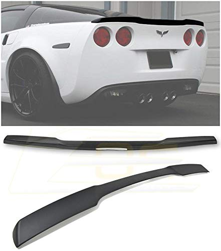 - Extreme Online Store for 2005-2013 Chevrolet Corvette C6 | EOS ZR1 Style ABS Plastic Painted Matte Black Rear Trunk Lid Wing Spoiler Lip